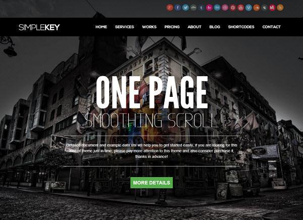 Szablony typu One Page Theme