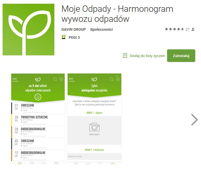 mobilny harmonogram odbioru smieci - Rozwiązania informatyczne w gospodarce odpadami